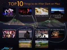 Things to do at night on Maui Infographic