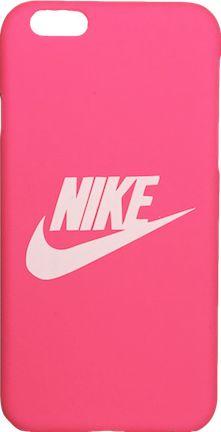 "Nike Hot Pink White ""Swoosh Logo"" Hard Plastic iPhone 6/6s Case"