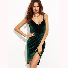 Bodycon Dress Sexy Womens Sexy Dresses Party Night Club Dress Backless Ruched Velvet Wrap Cami Dress That`s just superb! Sexy Dresses, Sexy Party Dress, Party Dresses For Women, Club Dresses, Short Dresses, Backless Dresses, Party Wear, Sleeveless Dresses, Summer Dresses