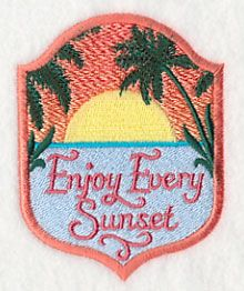 Enjoy Every Sunset design (L2819) from www.Emblibrary.com