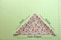 You now have folded edges and raw edges