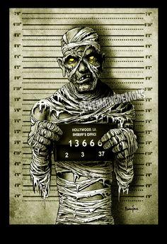 Mummy Arrested Art print by Marcus Jones by ScreamingDemonsArt, $7.00