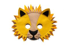 León sintió Máscara - máscara inspirada el Rey León - Safari animal - Madagascar inspirado en favor de partido de mascarilla - mascarilla para adultos niños niño - Safari