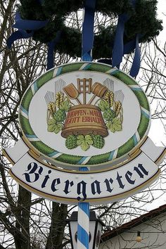 Biergarten Sign Germany / Click on the history of the (beer-garden), interesting.