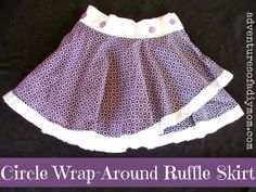 Adventures of a DIY Mom - How to Make a Circle Wrap-Around Ruffle Skirt 2019 - ruffle skirt ruffle skirt tutorial skirt diy skirt dress pattern skirt party dresses wrap skirt diy - Skirt Diy 2019 - Ruffle Skirt Summer Dress 2019 Chiffon Skirt, Ruffle Skirt, Dress Skirt, Little Girl Dresses, Girls Dresses, Summer Dresses, Party Dresses, Sewing Patterns For Kids, Sewing For Kids