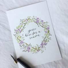 Need to work on my spacing 😂 happy Monday everyone! Watercolor Lettering, Watercolor Sketch, Watercolor Cards, Watercolor Flowers, Watercolor Paintings, Calligraphy Cards, Wreath Watercolor, Frame Wreath, Watercolor Techniques