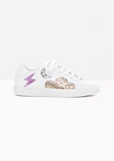 & Other Stories   Leather Glitter Sneaker