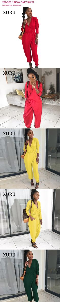 Buy Directly from China Suppliers Autumn Fashion 2018 Women, Overalls Women, Jumpsuits For Women, Red Green, Rompers, One Piece, China, Free Shipping, Coat