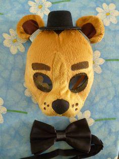 Five Nights at Freddy's Freddy Golden Freddy Fazbear Mask by ShopBHawk on Etsy
