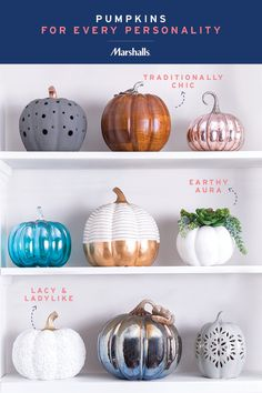 Decorative pumpkins for every personality – the options are endless at Marshalls! Try a boho vibe with faux succulents, a feminine look with ladylike lace, or keep it traditional with a classic wooden pumpkin. Or, get them all for an elevated fall focal point. Fill your home with the prettiest fall décor at amazing prices.
