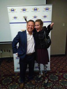 Windsor Ontario Hypnotist James Graham speaking with motivational speaker, Unstoppable Tracy Schmidt at a Millionaire Mindset conference James Graham, Windsor Ontario, Schmidt, Self Development, Mindset, Conference, Motivational, Presentation, Author