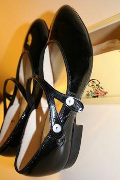 vintage patent leather shoes