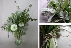 A lovely herb bouquet by Fox Fodder Farm for Larks & Japes.  Come see what's in it #foxfodderfarm #herb #bouquet