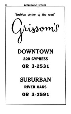 ads from 1963 Abilene City Directory.