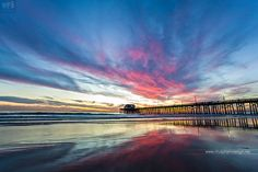 Amazing sunset at Newport Beach Pier by Nhut Pham, via 500px