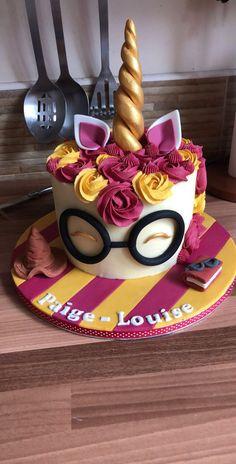 Harry Potter Unicorn cake, It's Adorable Enough! Harry Potter Torte, Harry Potter Birthday Cake, Harry Potter Food, Harry Potter Desserts, Harry Potter Cupcakes, 13 Birthday Cake, 10th Birthday, Unicorn Birthday, Birthday Ideas