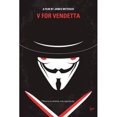 """Varick Gallery V For Vendetta Minimal Movie Poster Vintage Advertisement on Wrapped Canvas Size: 26"""" H x 18"""" W x 0.75"""" D"""