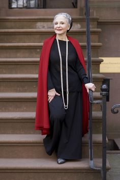 Joyce Carpati from Advanced Style: Older and Wiser - Most women as they age lament the loss of their youth and beauty. I never wanted to look young. I only wanted to look as lovely as I could at any age. Now at 83, my feelings have only become stronger.