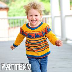 make your own Diplodocus Sweater (DIGITAL KNITTING PATTERN) Infant Toddler Child