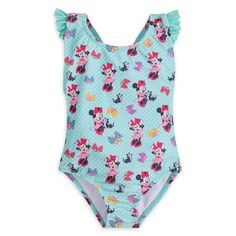 NWT Disney Store Minnie Mouse Red swimsuit 1 pc SZ  3 4 5//6 Girls