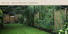 Lattice privacy screens to mask chain link fence