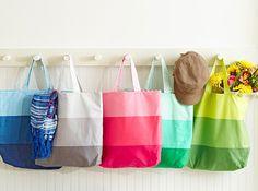 Color Block Totes   AllPeopleQuilt.com