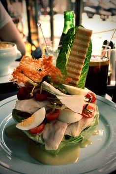 caesar salad @ cafe de la paix, paris