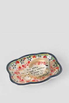 Ceramic You Make The World a Better Place Artisan Trinket Dish