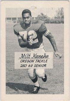 1962 Oregon tackle Milt Kanehe. www.SportingOregon.com