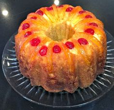 My Mother's Apron Strings:   Upside-Down Pineapple Bundt Cake.  No cake mix recipe, this is from scratch!  Yummy!  And yay, I have this Nordic Ware pan!