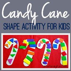 Candy cane preschool activity. Fun for Christmas!