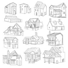 Love Drawing and Design? Finding A Career In Architecture - Drawing On Demand House Sketch, House Drawing, Sketches Tutorial, Drawing Tutorials, Easy Drawings, Pencil Drawings, House Doodle, House Illustration, Illustration Sketches