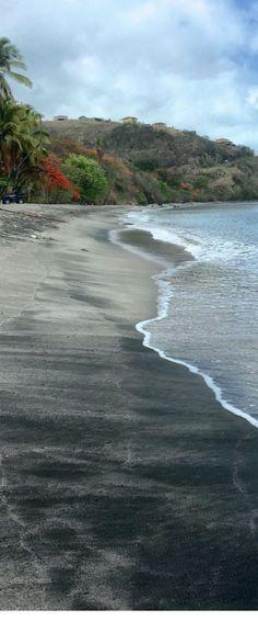 Black sand beaches of Dominica