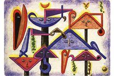 Min main ya (1962) - Xul Solar (Oscar Agustin Alejandro Schulz Solari - argentino (1887-1963)