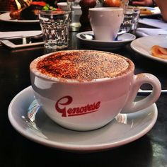 A cup of #cappucino at the café on Hardware Lane