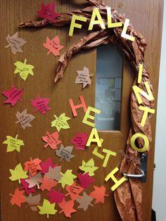 Fall school nurse decoration