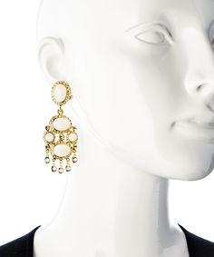 KJL White Chandelier Earrings