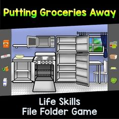 Students will sort food items and practice groceries away with this fun life skills file folder. This activity reinforces Activities for Daily Living (ADL) skills and would complement any special education program. Students with special needs sometimes need direct instruction to learn daily life skills.