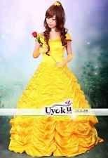 Cartoon Beauty and the Beast Princess Belle dress skirt Cosplay costume Custom