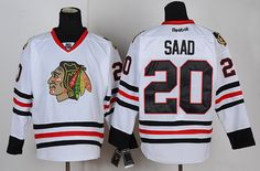 chicago blackhawks 20 brandon saad white jersey