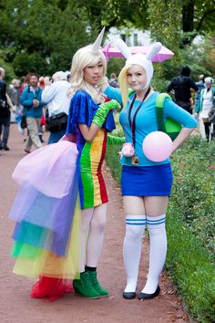 Fionna and Lady Rainicorn by MayoInvasion.deviantART.com