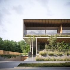 Great architecture with lots of green Architecture Concept Drawings, Pavilion Architecture, Indian Architecture, Japanese Architecture, Sustainable Architecture, Architecture Plan, Residential Architecture, Contemporary Architecture, Landscape Architecture