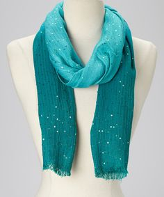 Take a look at this Teal Shimmer Ombré Scarf by In Things on #zulily today!