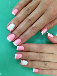 Pink and white French