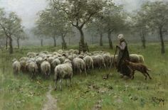 Anton Mauve - Shepherdess with Flock of Sheep [c.1870-88] | Flickr - Photo Sharing!