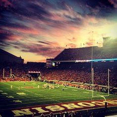 Via @cacia_bug Amazing view, amazing state, amazing team...  #badgers #uwmadison #sunset