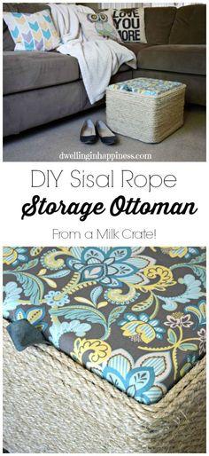 DIY Sisal Rope Ottom