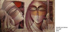 nityam singha roy - Google Search Cuban Art, Krishna Painting, Portrait Photography, Sketches, Behance, Ganesha, Abstract, Canvas, Paintings