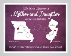 Mother's Day Gift Long Distance Mother by DarmellaGraphics on Etsy