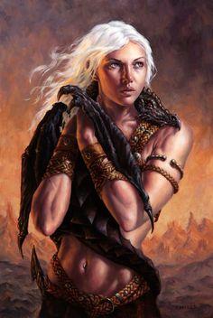 Daenerys Targaryen & Drogon, by ~Michael-C-Hayes on deviantART #got #agot #asoiaf